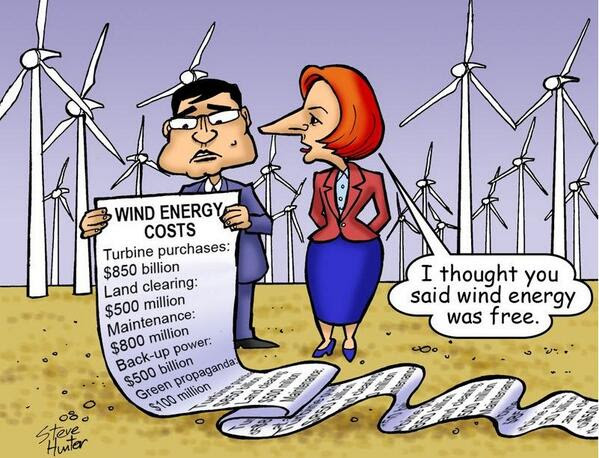 wind energy not free