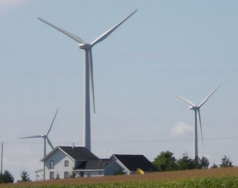 turbines near houses
