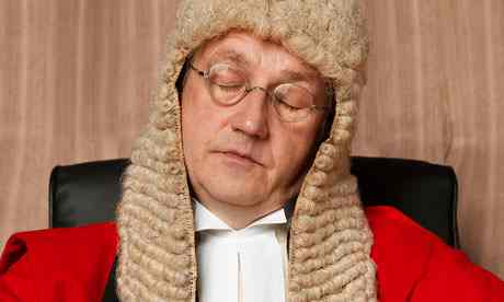 judge asleep